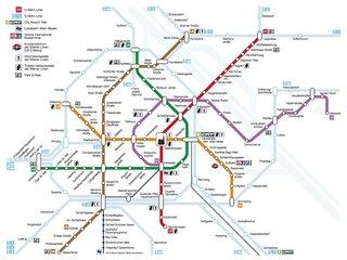 Метро и общественный транспорт Вены