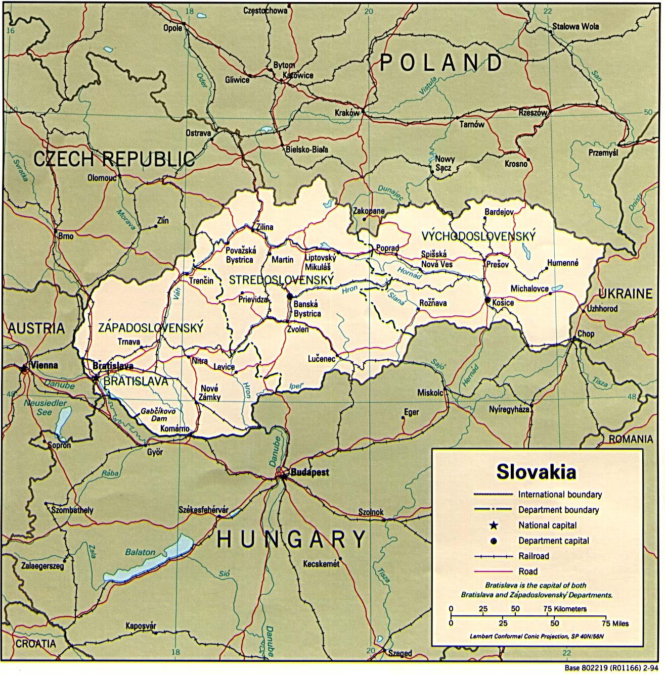 Lettland Karta Europa.Slovakien Karta Europe