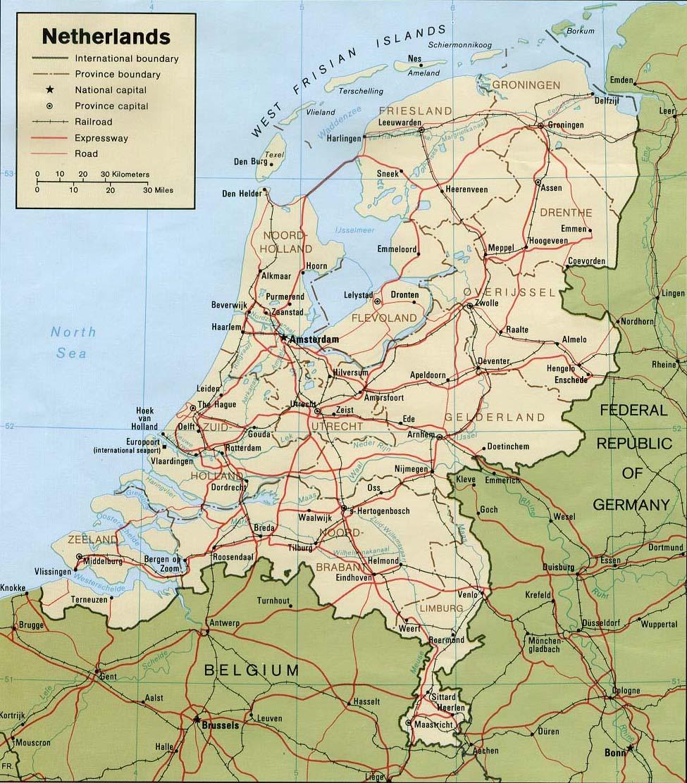 Отпуск.com / Карта Голландии: http://www.otpusk.com/ref/nl/map-271/